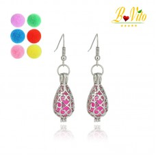 "Earrings diffusers of perfume or essential oil ""drop of water"""