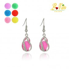 "Earrings diffusers of perfume or essential oil ""elegant drop of water"""
