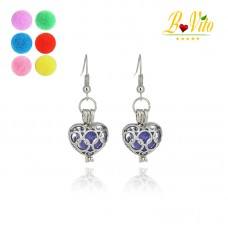"Earrings diffuser of perfume or essential oil ""Heart"""