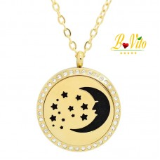 """Necklace diffuser of perfume or essential oil """"The moon and the stars"""""""