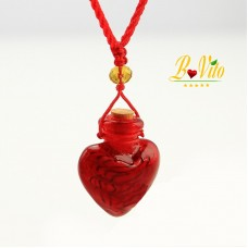 "Necklace diffuser of perfume or essential oil vial diffuser ""Heart"", glass of Murano"