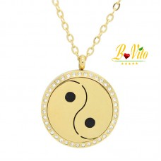 Necklace diffuser of perfume or essential oil Yin and Yang