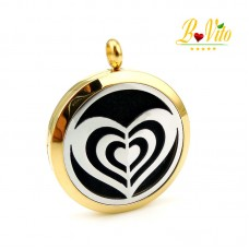 """Necklace diffuser of perfume or essential oil """"The triple heart"""""""