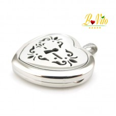 """Necklace diffuser of perfume or essential oil """"Heart with key"""""""