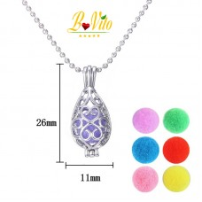 "Necklace diffuser of perfume or essential oil ""drop of water"""