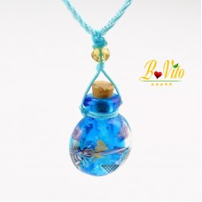 "Necklace diffuser of perfume or essential oil vial diffuser ""Gourd"", glass of Murano"