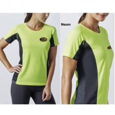 Female Bicolor Short Sleeve Breathable T-Shirt