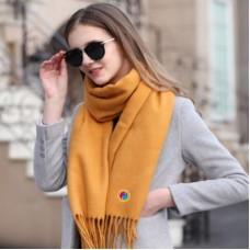 Unisex, premium quality  cashmere scarf  with creativism emblem