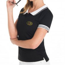Hight Quality Bicolor Short Sleeve Polo for woman