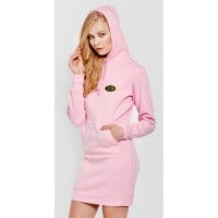 Hooded Sweater Dress, Long Sleeve Half-Glove for woman