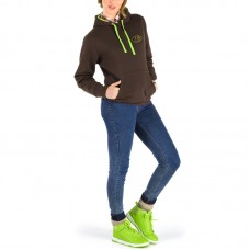 Hooded Sweater, Bicolor, Long Sleeve Half-Glove for woman